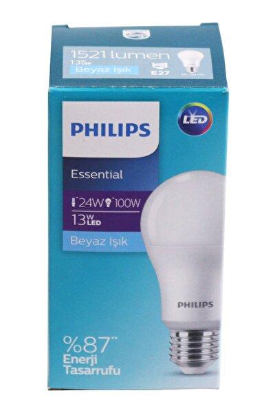 Philips Essential Led Lamba 13w - 100w E27 Duy 6500k Beyaz Işık