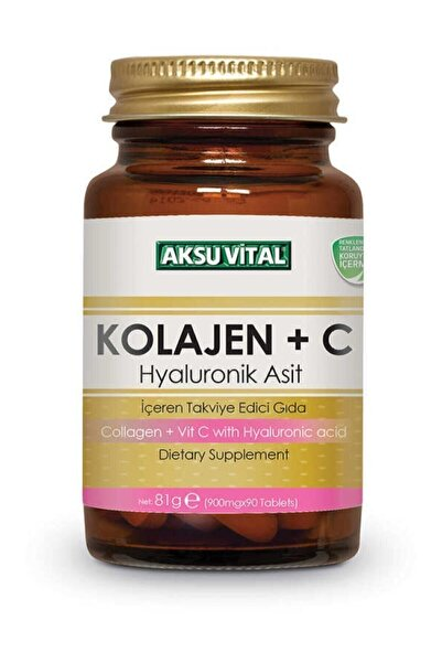Aksu Vital Kolajen + C Vitamini Hyaluronik Asit 900 mg 90 Tablet
