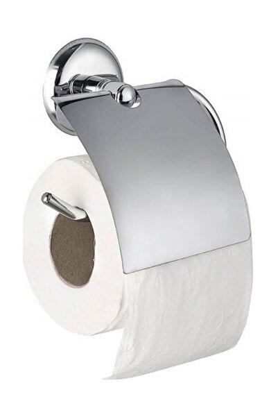BİDOLU HOME Wc Banyo Vidalı Tuvalet Kağıdı Askı Aparatı Metal Dil Kapaklı Kağıtlık