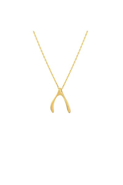 Gimora Wishbone Lades Gümüş Kolye
