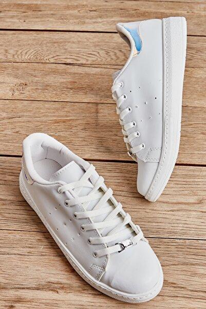 Bambi Beyaz/lame Kadın Sneaker L0664175409