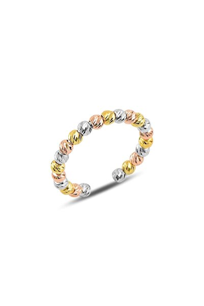 Söğütlü Silver Gümüş Ayarlamalı Renkli Dorica Toplu Yüzük