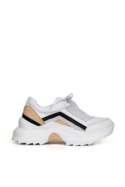 BUENO Shoes Hakiki Deri Bağcık Detaylı Kadın Spor Ayakkabı 20wq10104