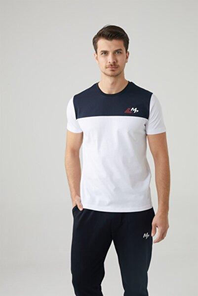 MP Erkek Bisiklet Yaka Lacivert T-shirt Tekstil 201-5008mr 300