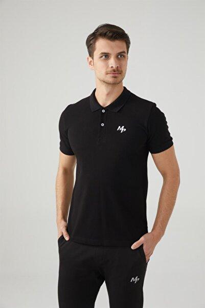 MP Erkek Polo Yaka Siyah T-shirt Tekstil 201-5005mr 100