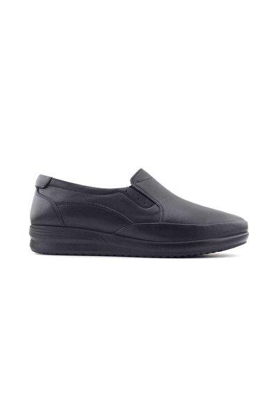 Kayra 04 Hakiki Deri Kadın Günlük Ayakkabı-siyah