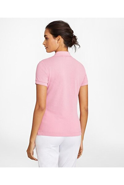 BROOKS BROTHERS Kadın Pembe Supima Polo Yaka T-shirt