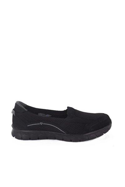 Forelli Siyah Kadın Ortopedik Ayakkabı 61015
