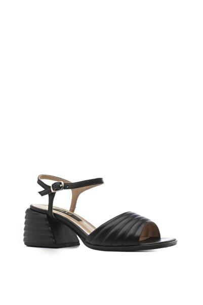 İLVİ Karlına Bayan Sandalet Siyah Deri