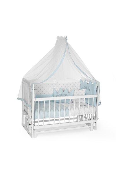 Carino Wins Ahşap 60 X 120 Beyaz Renk Sallanır Anne Yanı Beşik Uyku Setli Ve Yataklı Asybyz60x120mn