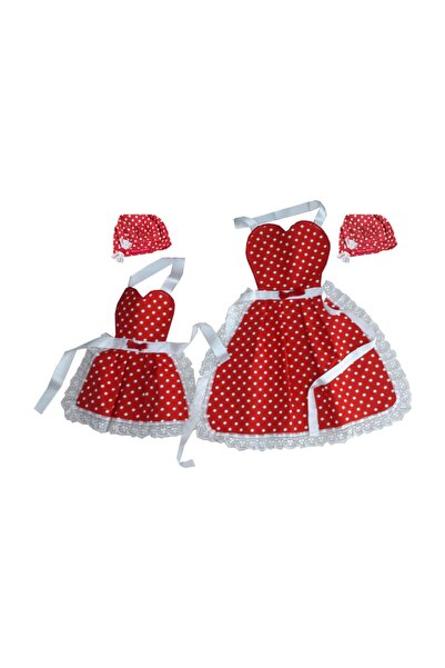 DUCK Anne-çocuk Anne-kız Şapkalı Mutfak Önlüğü, Aşçı Önlüğü