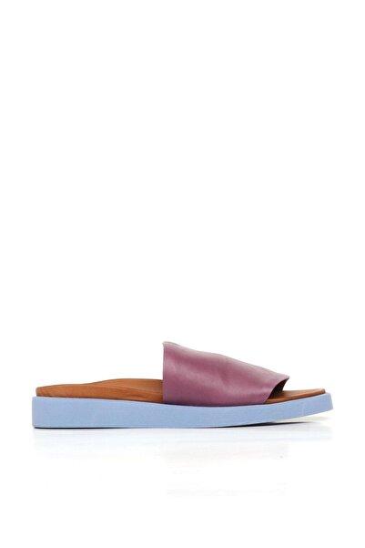 BUENO Shoes Önden Açık Hakiki Deri Kadın Düz Terlik 20wq9103