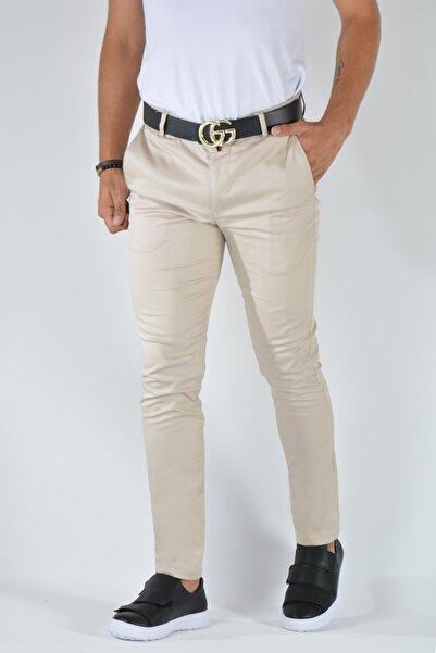 Terapi Men Erkek Slim Fit Keten Pantolon 20y-2200316 Krem