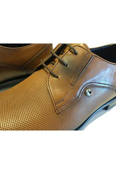 Cacharel Hakiki Deri Italyan Kösele Kahverengi Günlük Erkek Ayakkabı