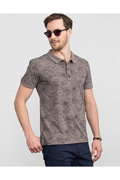 Tudors Slim Fitpolo Yaka Çiçek Desenli Erkek T-shirt