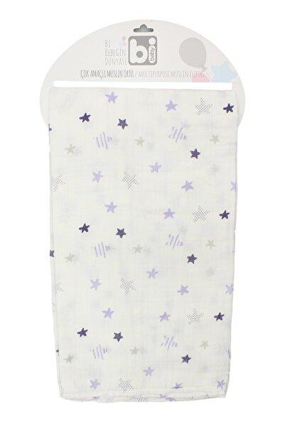 Bibaby Yıldızlı Müslin Battaniye 100*130 Cm