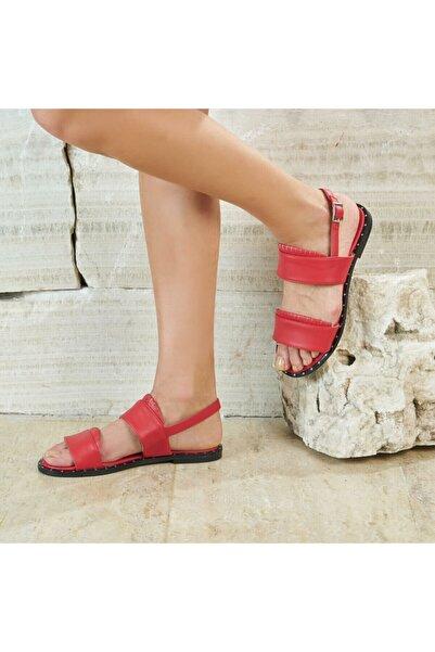Butigo Keo33z Kırmızı Kadın Düz Sandalet