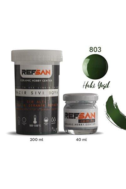 Ref-San Hazır Çini Ve Seramik Boyası 803 Haki Yeşil 200 ml