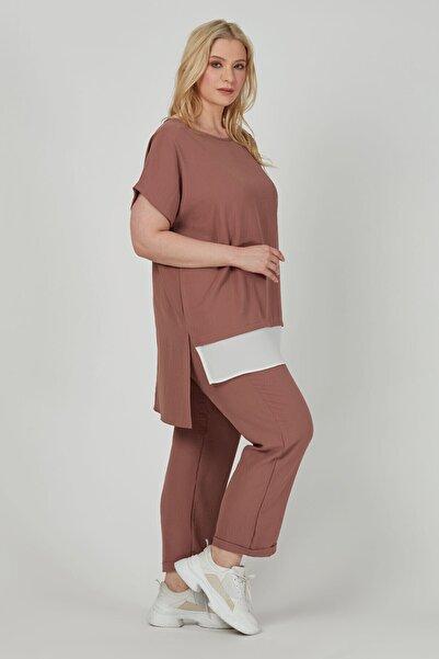 Büyük Moda Dökümlü Havuç Pantolon