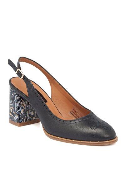 Tergan Lacivert Deri Kadın Ayakkabı 64181a31