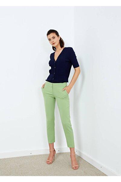 Adze Kadın Açık Yeşil Yan Cepli Pantalon Ayeşil 36