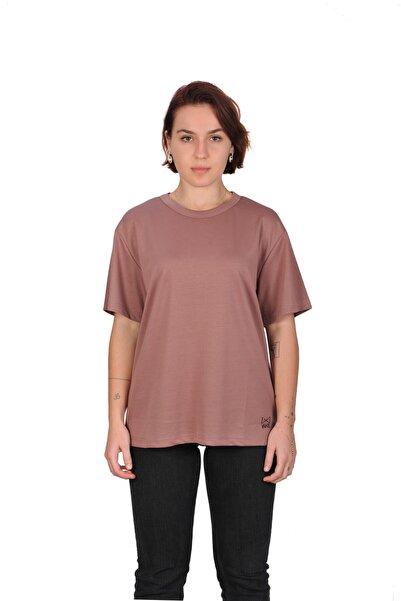 WAB Kadın Gül Kurusu Bisiklet Yaka T-shirt