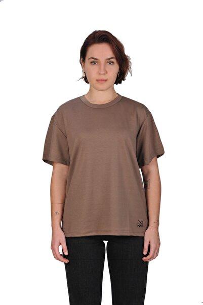 WAB Kadın Vizon Bisiklet Yaka T-shirt