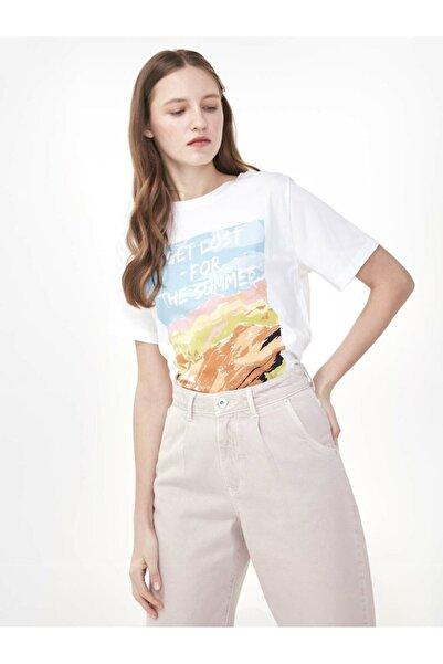Twist Slogan Baskılı Tshirt