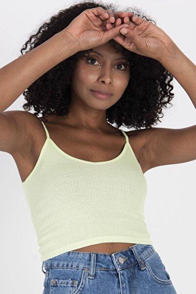 Addax Kadın Su Yeşili Ince Askılı Atlet A0882 - X6 ADX-0000021993