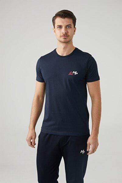 MP Erkek Bisiklet Yaka Lacivert T-shirt Tekstil 201-5011mr 300