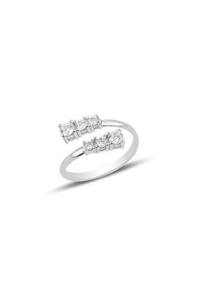 Söğütlü Silver Gümüş Ayarlamalı Pırlanta Modeli Yüzük