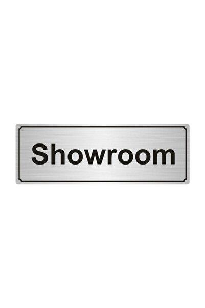 Artı Showroom Yönlendirme Levhası 5cmx20cm Gümüş Renk