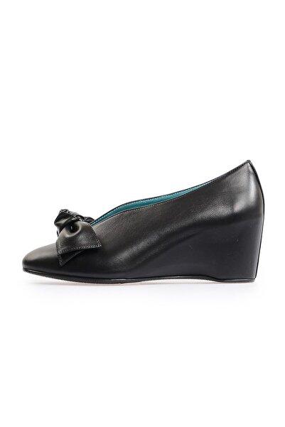 Flower Siyah Gizli Topuk Günlük Ayakkabı