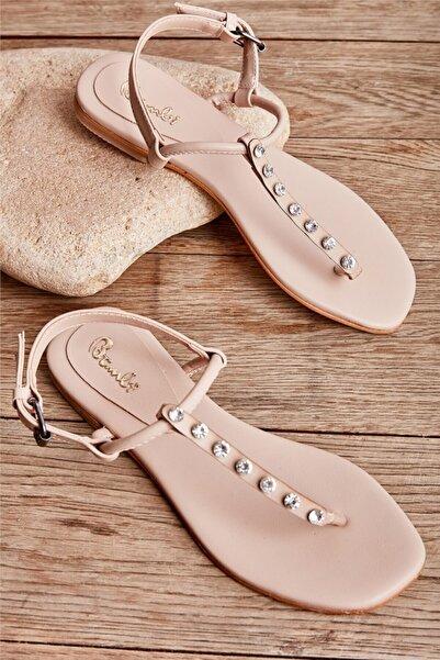 Bambi Bej Kadın Sandalet L0824009109