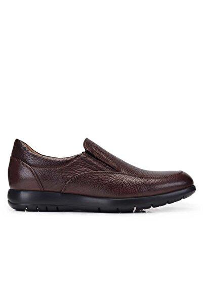 Nevzat Onay Hakiki Deri Kahverengi Günlük Loafer Erkek Ayakkabı -11378-