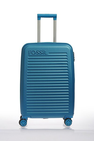 Fossil 1131 4 Tekerlekli Orta Boy Valiz Mavi