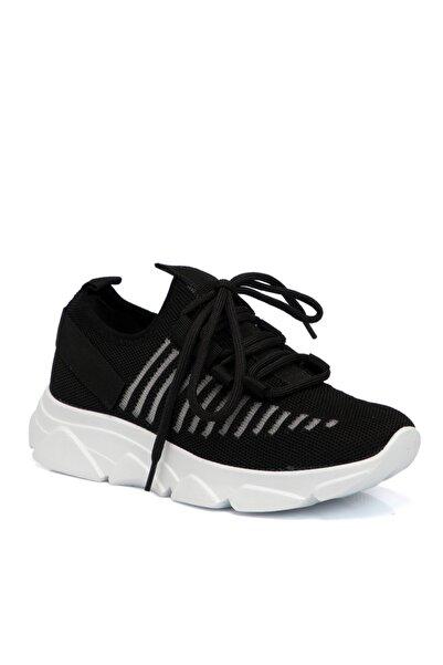Tergan Siyah Tekstil Kadın Ayakkabı 65023ı46
