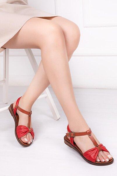 Deripabuc Hakiki Deri Kadın Deri Sandalet Dp-0087