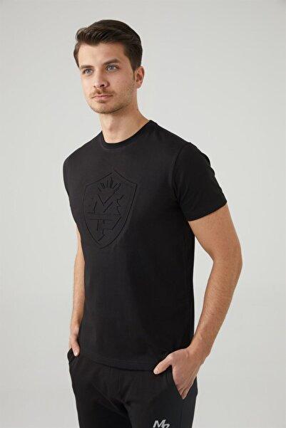 MP Erkek Bisiklet Yaka Siyah T-shirt Tekstil 201-5010mr 100