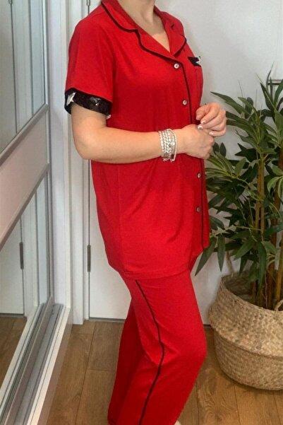 Cossy By Aqua Kırmızı Pijama Takım Aqua20548kırmızı