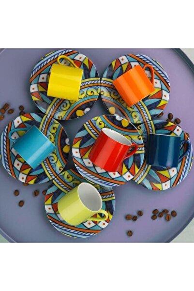 Kütahya Porselen Ruya 6 Lı Kahve Takımı P Boya&nano Dek Dg402