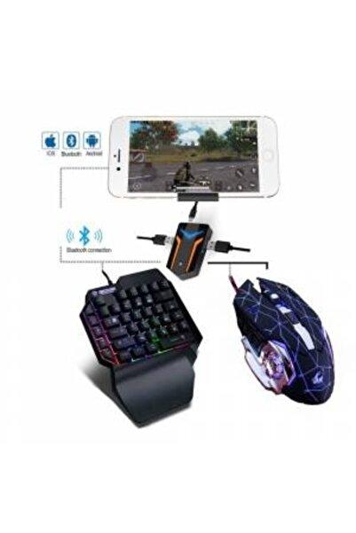 PUBG 3 In 1 Klavye Mouse Bağlantılı Mobil Oyun Seti Siyah