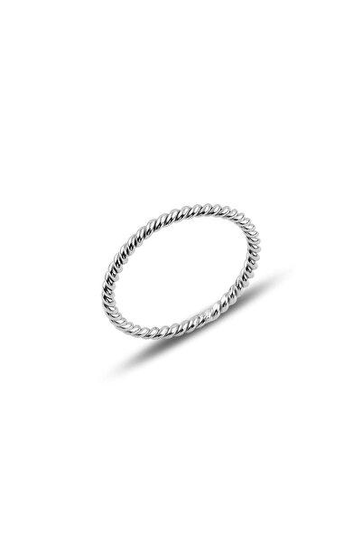 Söğütlü Silver Gümüş Rodyumlu Ince Yüzük