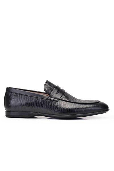 Nevzat Onay Hakiki Deri Siyah Günlük Loafer Yazlık Erkek Ayakkabı -11780-