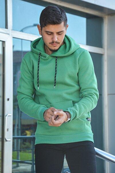 Terapi Men Erkek Kapşonlu Uzun Kollu Sweatshirt 20k-5200383-01 Yeşil