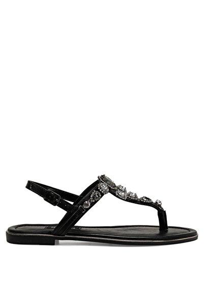 Nine West Zulı Siyah Kadın Sandalet