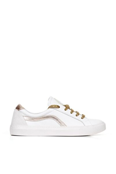 BUENO Shoes Hakiki Deri Yanları Şerit Detaylı Kadın Spor Ayakkabı 20wq9701