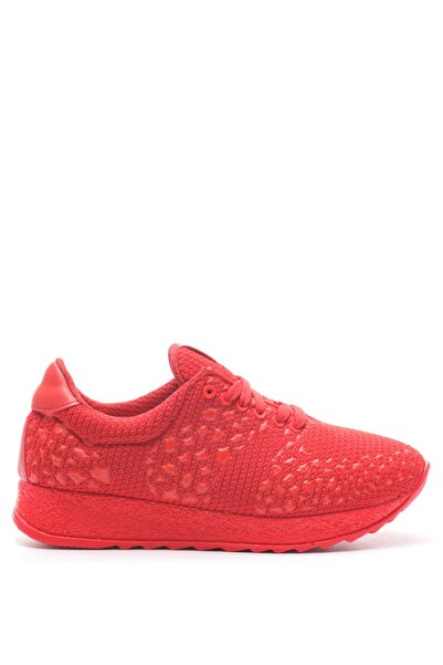 Bulldozer 201004 Kırmızı Kadın Spor Ayakkabı