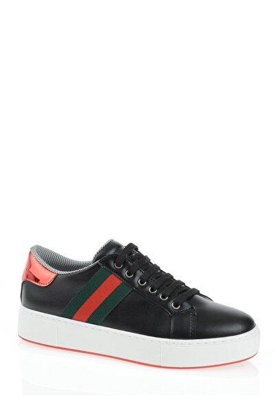 Derigo Siyah Şerit Kadın Casuel Ayakkabı 221701