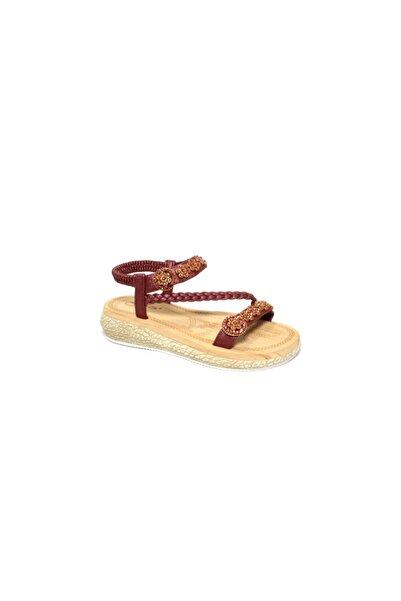 Guja 19y2010-3 Çocuk Swarovski Taşlı Işlemeli Ortopedik Sandalet